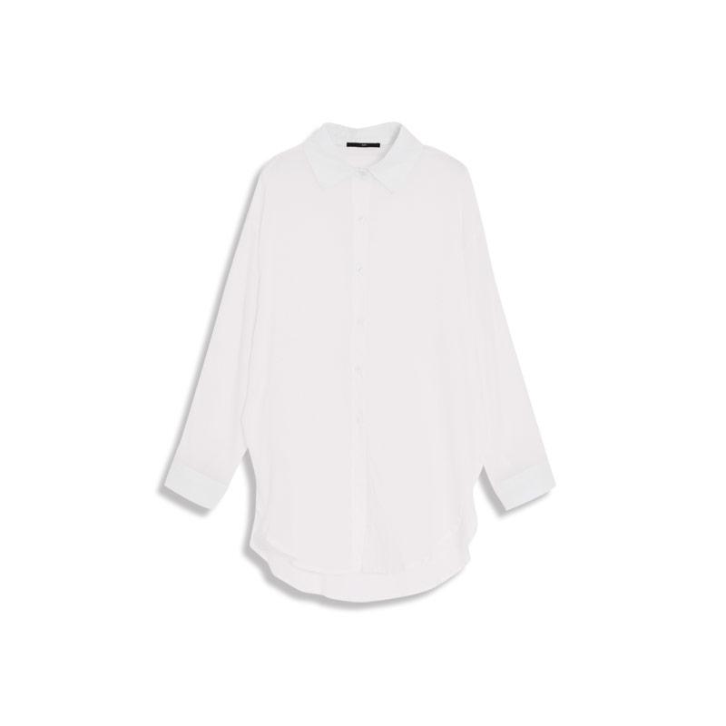 dbc9b24ae69f78 QUEEN SHOP - Simple plain micro-transparent cotton and linen long ...